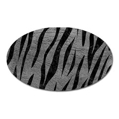 Skin3 Black Marble & Gray Leather (r) Oval Magnet