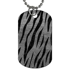 Skin3 Black Marble & Gray Leather (r) Dog Tag (one Side)