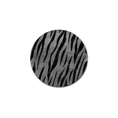 Skin3 Black Marble & Gray Leather (r) Golf Ball Marker (10 Pack)