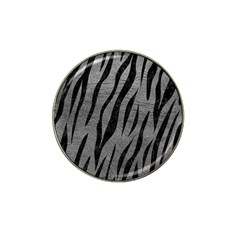 Skin3 Black Marble & Gray Leather (r) Hat Clip Ball Marker (10 Pack)