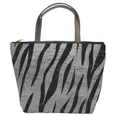 Skin3 Black Marble & Gray Leather (r) Bucket Bags