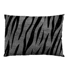 Skin3 Black Marble & Gray Leather (r) Pillow Case