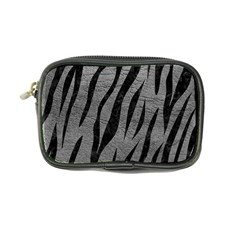 Skin3 Black Marble & Gray Leather (r) Coin Purse