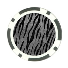 Skin3 Black Marble & Gray Leather (r) Poker Chip Card Guard (10 Pack)