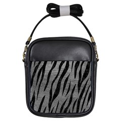 Skin3 Black Marble & Gray Leather (r) Girls Sling Bags