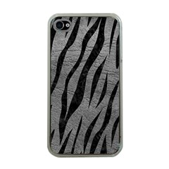 Skin3 Black Marble & Gray Leather (r) Apple Iphone 4 Case (clear)
