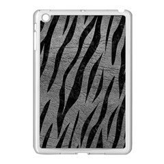 Skin3 Black Marble & Gray Leather (r) Apple Ipad Mini Case (white)