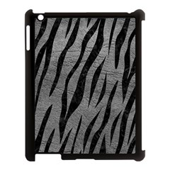 Skin3 Black Marble & Gray Leather (r) Apple Ipad 3/4 Case (black)