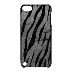 Skin3 Black Marble & Gray Leather (r) Apple Ipod Touch 5 Hardshell Case With Stand
