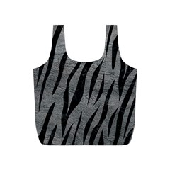 Skin3 Black Marble & Gray Leather (r) Full Print Recycle Bags (s)