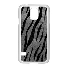 Skin3 Black Marble & Gray Leather (r) Samsung Galaxy S5 Case (white)