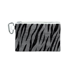 Skin3 Black Marble & Gray Leather (r) Canvas Cosmetic Bag (s)