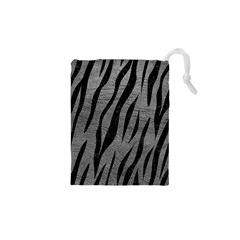 Skin3 Black Marble & Gray Leather (r) Drawstring Pouches (xs)