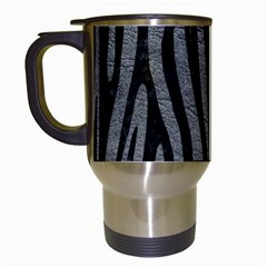 Skin4 Black Marble & Gray Leather Travel Mugs (white)