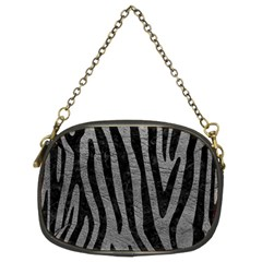 Skin4 Black Marble & Gray Leather Chain Purses (two Sides)