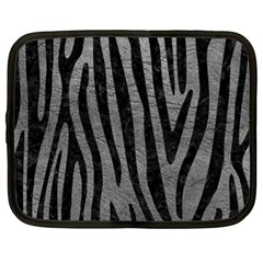 Skin4 Black Marble & Gray Leather Netbook Case (xl)
