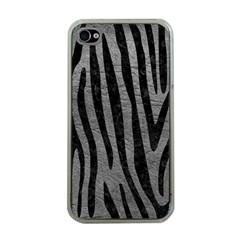 Skin4 Black Marble & Gray Leather Apple Iphone 4 Case (clear)