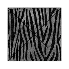 Skin4 Black Marble & Gray Leather Acrylic Tangram Puzzle (6  X 6 )