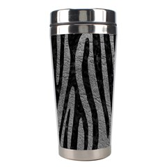 Skin4 Black Marble & Gray Leather Stainless Steel Travel Tumblers