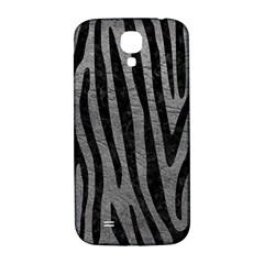 Skin4 Black Marble & Gray Leather Samsung Galaxy S4 I9500/i9505  Hardshell Back Case