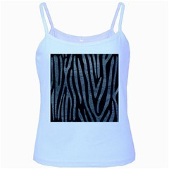 Skin4 Black Marble & Gray Leather (r) Baby Blue Spaghetti Tank