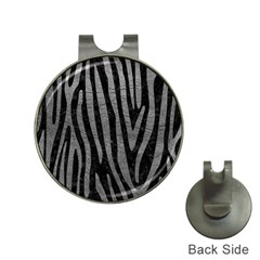 Skin4 Black Marble & Gray Leather (r) Hat Clips With Golf Markers