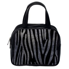 Skin4 Black Marble & Gray Leather (r) Classic Handbags (one Side)