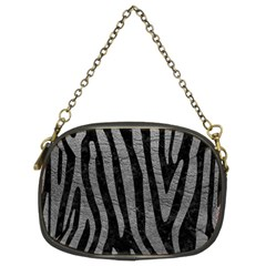 Skin4 Black Marble & Gray Leather (r) Chain Purses (two Sides)