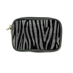 Skin4 Black Marble & Gray Leather (r) Coin Purse