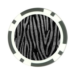 Skin4 Black Marble & Gray Leather (r) Poker Chip Card Guard (10 Pack)