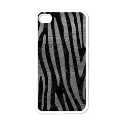 Skin4 Black Marble & Gray Leather (r) Apple Iphone 4 Case (white)