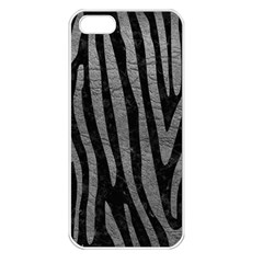Skin4 Black Marble & Gray Leather (r) Apple Iphone 5 Seamless Case (white)