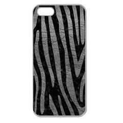Skin4 Black Marble & Gray Leather (r) Apple Seamless Iphone 5 Case (clear)