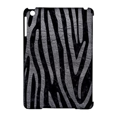 Skin4 Black Marble & Gray Leather (r) Apple Ipad Mini Hardshell Case (compatible With Smart Cover)