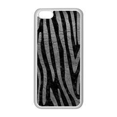 Skin4 Black Marble & Gray Leather (r) Apple Iphone 5c Seamless Case (white)