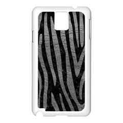 Skin4 Black Marble & Gray Leather (r) Samsung Galaxy Note 3 N9005 Case (white)