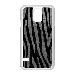 Skin4 Black Marble & Gray Leather (r) Samsung Galaxy S5 Case (white)