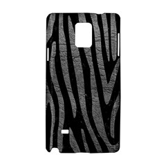 Skin4 Black Marble & Gray Leather (r) Samsung Galaxy Note 4 Hardshell Case