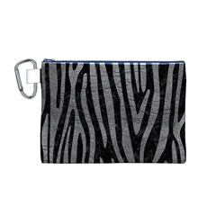 Skin4 Black Marble & Gray Leather (r) Canvas Cosmetic Bag (m)