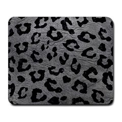 Skin5 Black Marble & Gray Leather Large Mousepads