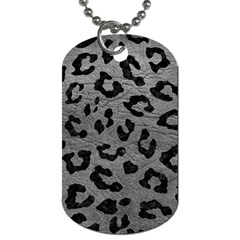 Skin5 Black Marble & Gray Leather Dog Tag (two Sides)