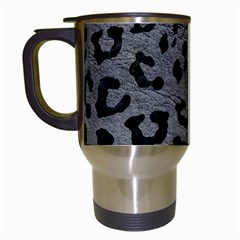 Skin5 Black Marble & Gray Leather Travel Mugs (white)