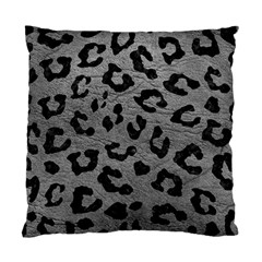 Skin5 Black Marble & Gray Leather Standard Cushion Case (one Side)