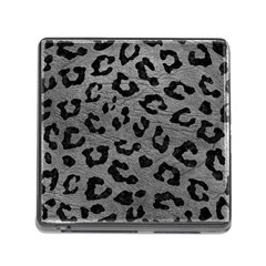 Skin5 Black Marble & Gray Leather Memory Card Reader (square)