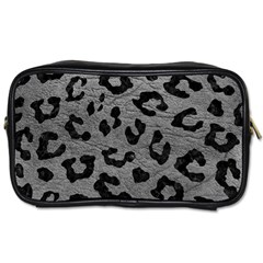 Skin5 Black Marble & Gray Leather Toiletries Bags