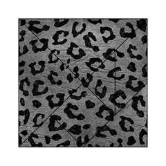 Skin5 Black Marble & Gray Leather Acrylic Tangram Puzzle (6  X 6 )