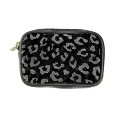 Skin5 Black Marble & Gray Leather (r) Coin Purse
