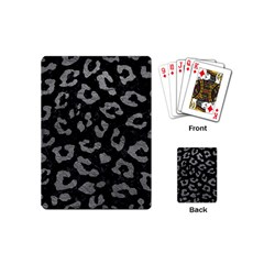 Skin5 Black Marble & Gray Leather (r) Playing Cards (mini)