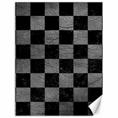 Square1 Black Marble & Gray Leather Canvas 12  X 16