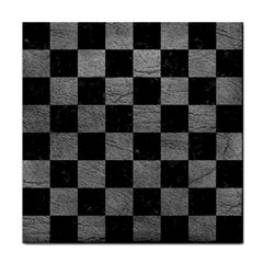 Square1 Black Marble & Gray Leather Face Towel